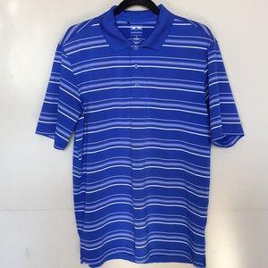 Adidas Golf Puremotion blue & white polo Sz M